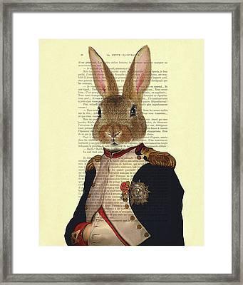 Bunny Portrait Illustration Framed Print