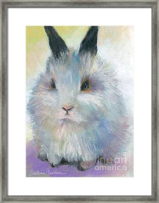 Bunny Rabbit Painting Framed Print