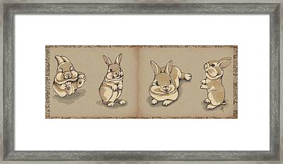 Bunny Sketch Framed Print by Veronica Minozzi