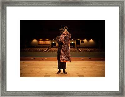 Bunraku Puppeteer Framed Print