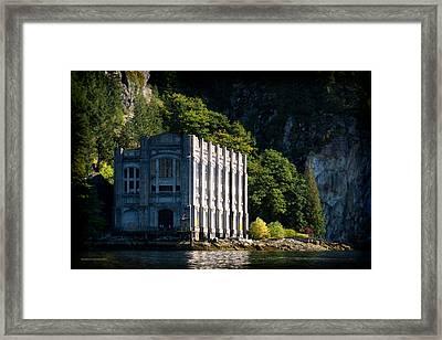 Buntzen Lake Power Station  Framed Print