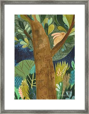 Bunzo And The Tattoo Tree Framed Print by Kate Cosgrove
