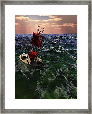 Buoy 14 Framed Print by Williem McWhorter