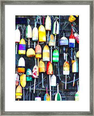 Framed Print featuring the photograph Buoy Art by Bill Holkham