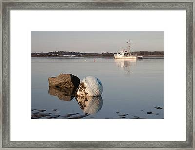 Framed Print featuring the photograph Buoy Reflection by Kirkodd Photography Of New England