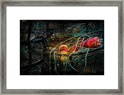 Buoys And Crab Rings Framed Print by Thom Zehrfeld