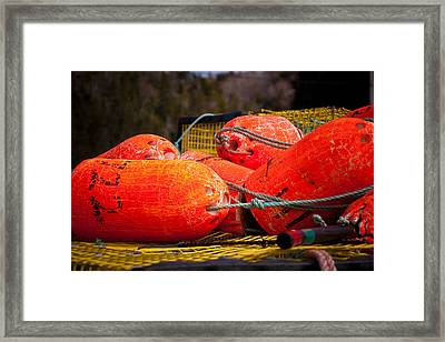 Buoys Framed Print by Gregory Bland
