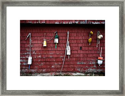 Buoys In Belfast Framed Print