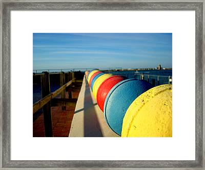 Buoys In Line Framed Print
