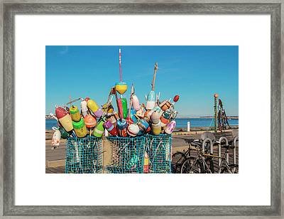 Buoys In Provincetown Framed Print by Ben Hughes