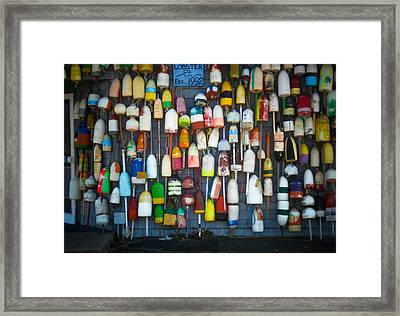 Buoys, Martha's Vineyard Framed Print
