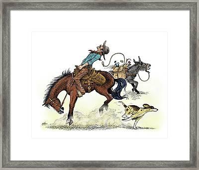 Bur Under The Saddle Framed Print by Dave Olson