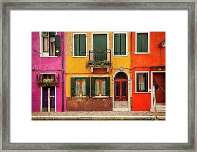 Burano Colors Framed Print