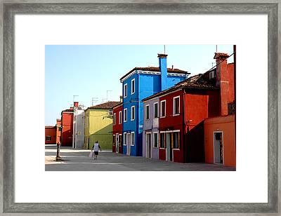 Burano Colors Framed Print by Diego Bonomo