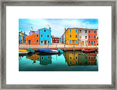 Burano Colors Framed Print by Ivan Vukelic