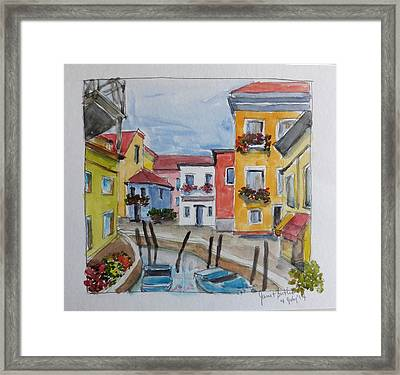 Burano, Italy Framed Print by Janet Butler