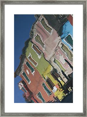 Burano Italy Reflections Framed Print by Elvira Butler