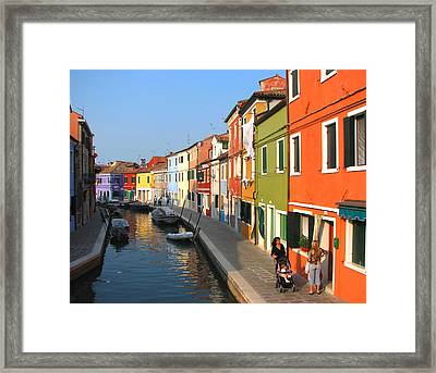 Burano Italy Framed Print