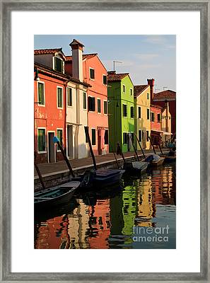 Framed Print featuring the photograph Burano Reflections by Dennis Hedberg