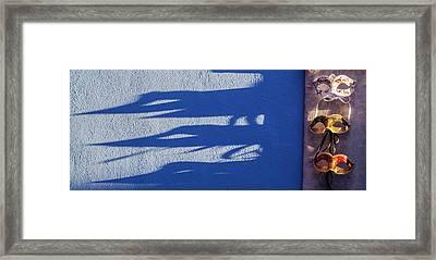 Burano Shadows Framed Print by Art Ferrier