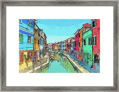 Burano Sketch Framed Print