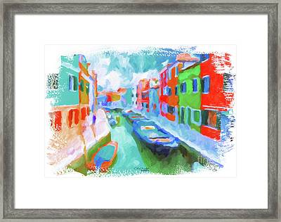 Burano, Venice, Italy Framed Print by Chris Armytage