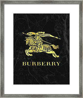 Burberry - Black And Gold Framed Print