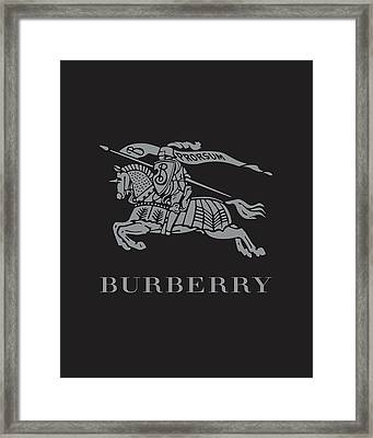 Burberry - Black And Grey Framed Print