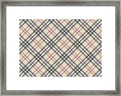 Burberry Pattern Framed Print