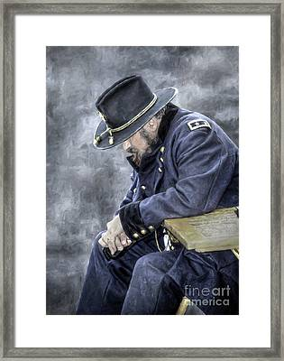 Burden Of War Civil War Union General Framed Print