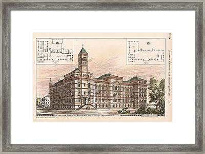 Bureau Of Engraving And Printing. Washington Dc. 1878 Framed Print by Jas Hill
