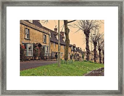 Burford Cotswolds Framed Print by Jasna Buncic
