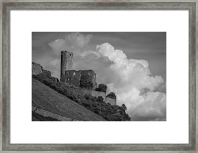 Burg Ehrenfels B W 02 Framed Print by Teresa Mucha