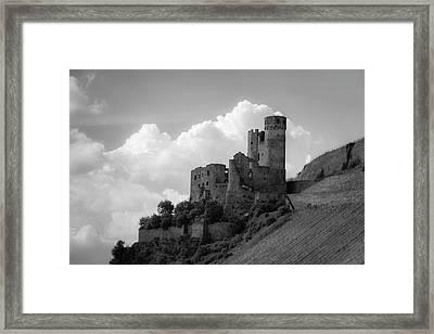 Burg Ehrenfels B W Framed Print by Teresa Mucha