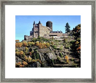 Framed Print featuring the photograph Burg Katz - Rhine Gorge by Jim Hill