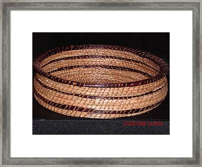 Burgandy And Brown Basket Framed Print