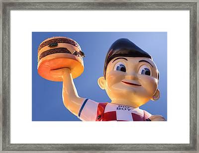 Burger Bob Framed Print