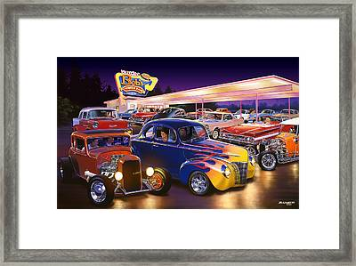 Burger Bobs Framed Print