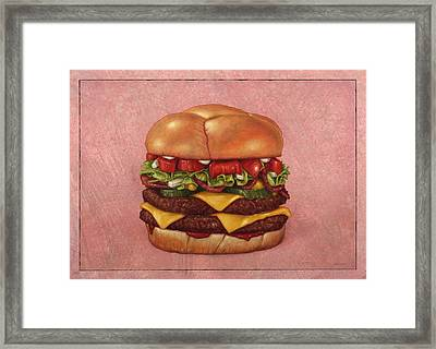 Burger Framed Print