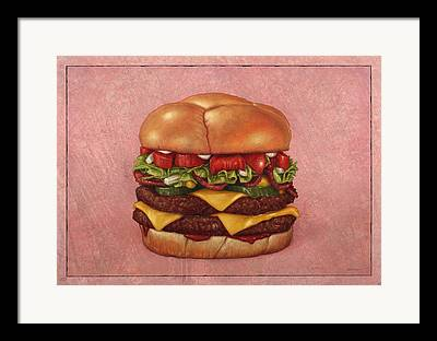 Burger Framed Prints