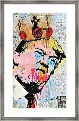 Burger King Trump Framed Print