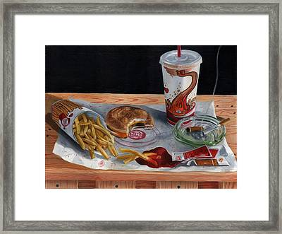 Burger King Value Meal No. 2 Framed Print by Thomas Weeks