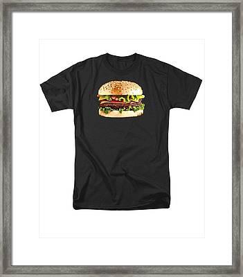 Burger Sndwich Hamburger Framed Print by T Shirts R Us -