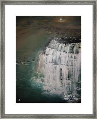 Burgess Falls Framed Print by Delnora Reed