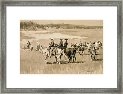 Burgess Finding A Ford Framed Print