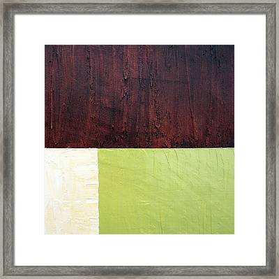 Burgundy Cream Pickle Framed Print by Michelle Calkins