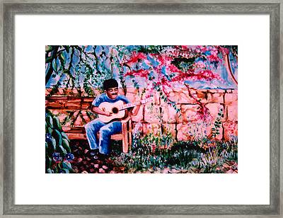 Burgundy Siesta Framed Print by John Keaton