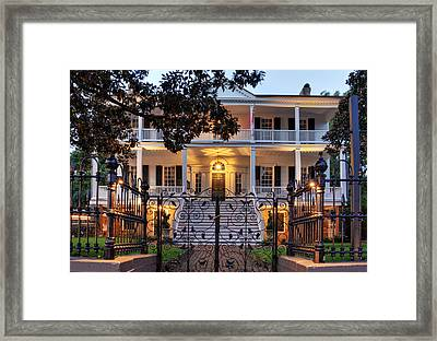 Burgwin Wright House Framed Print