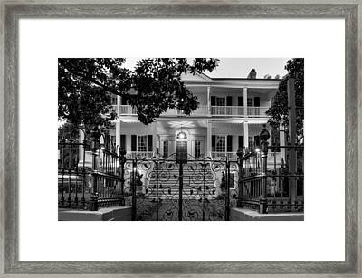 Burgwin Wright House In Black And White Framed Print