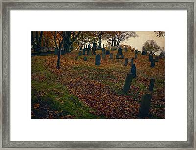 Burial Hill Framed Print